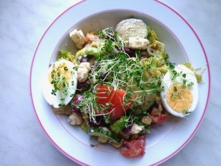 Salat mit Chia Sprossen